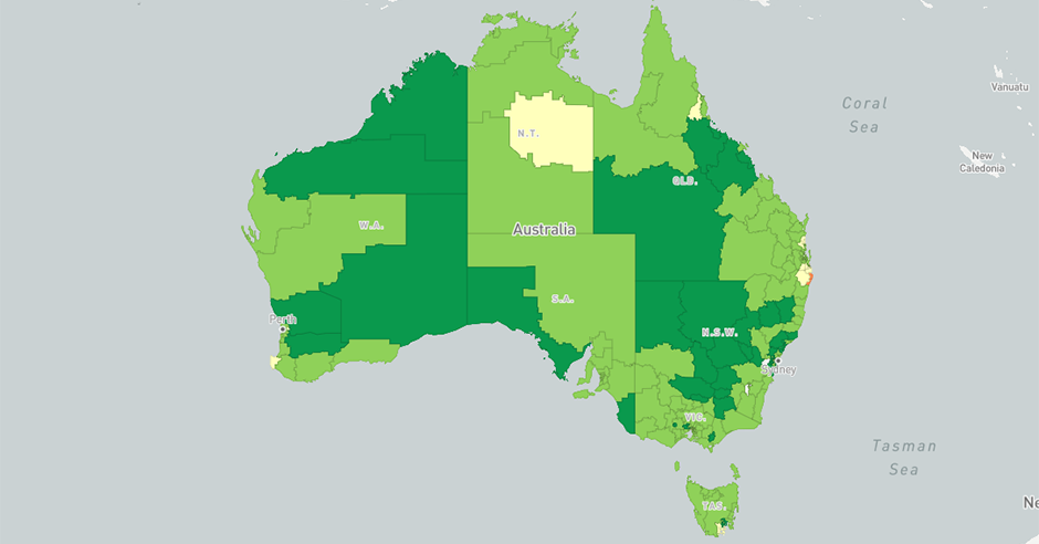Mapping Australia Immunisation Rates For Children SBS - Map of the us showing vaccination rates