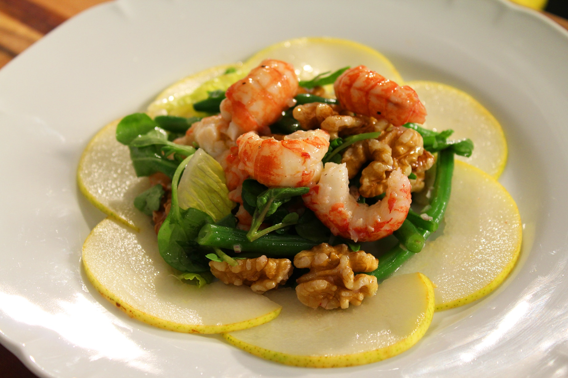 Gourmet Yabby Salad With Pears And Walnuts Recipe Sbs Food
