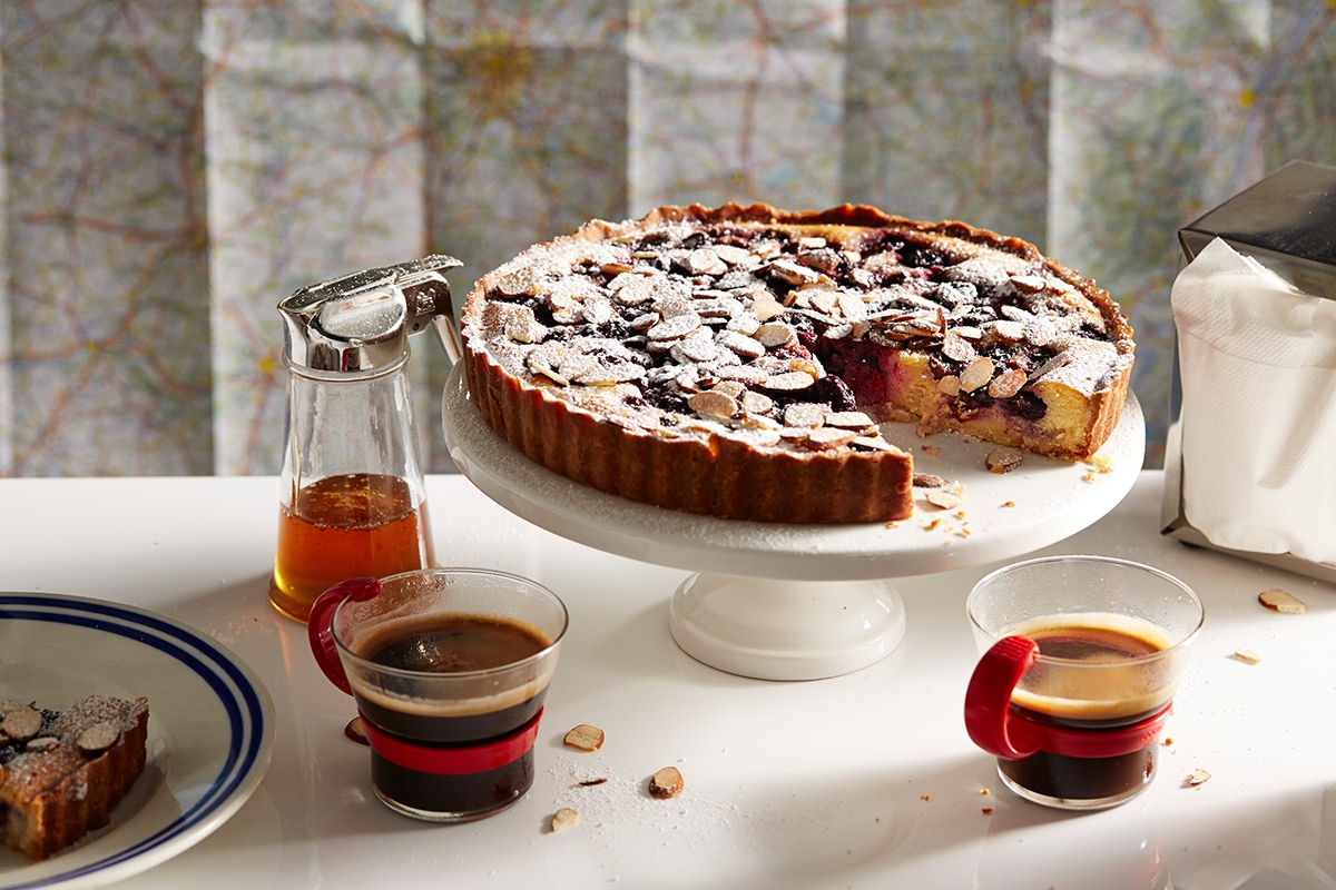 Cherry and almond tart french recipes sbs food for Aux beaux rivages la cuisine
