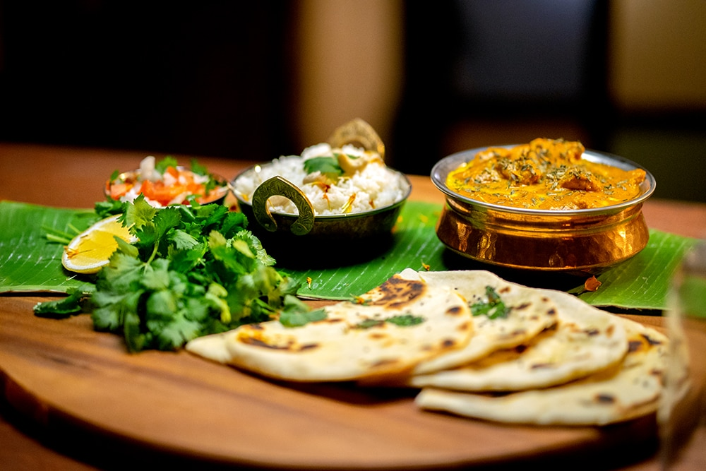 Butter Chicken With Naan Recipe The Chefs Line Sbs Food
