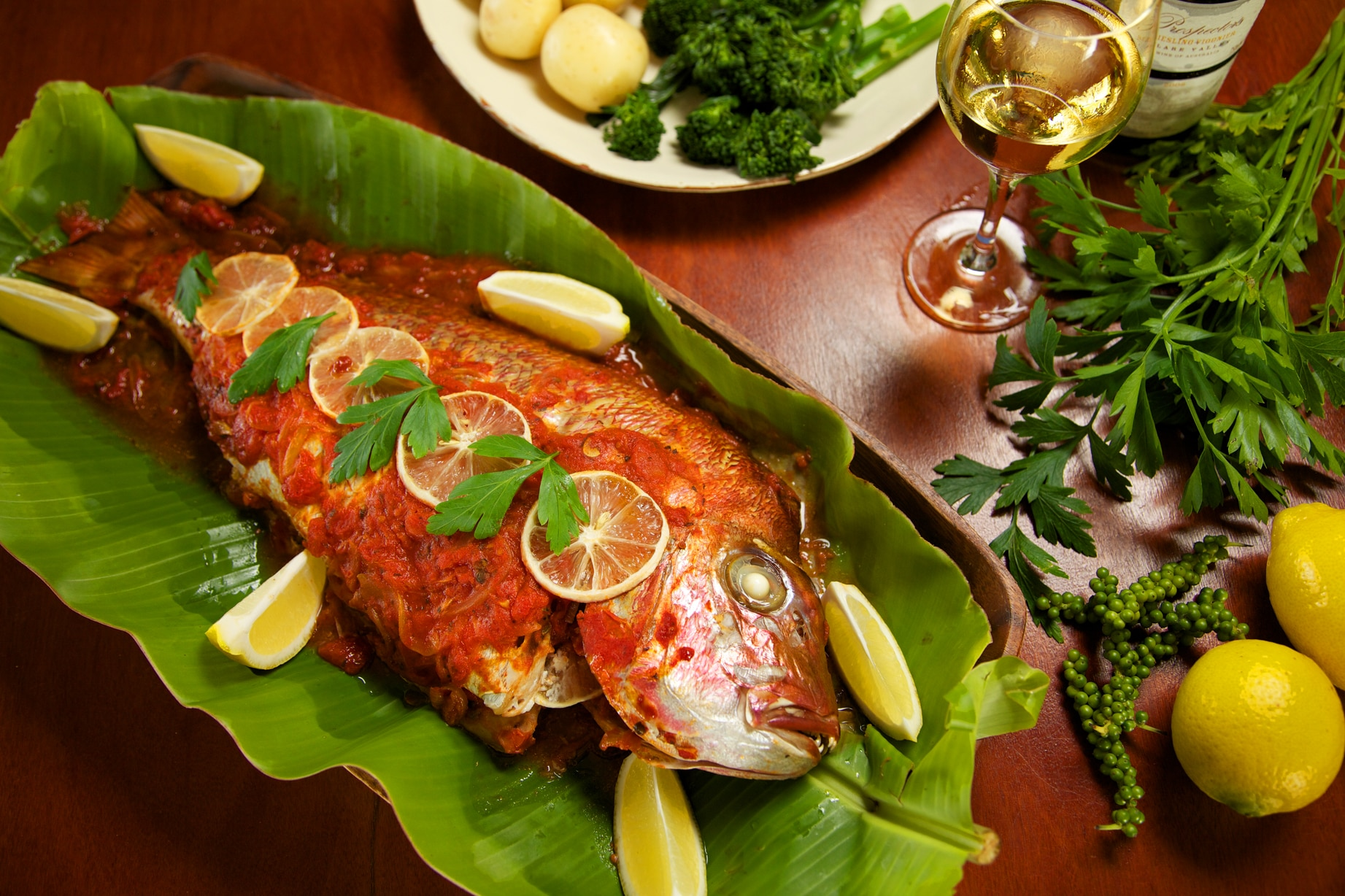 Baked fish pesce al forno recipe sbs food for How to make baked fish