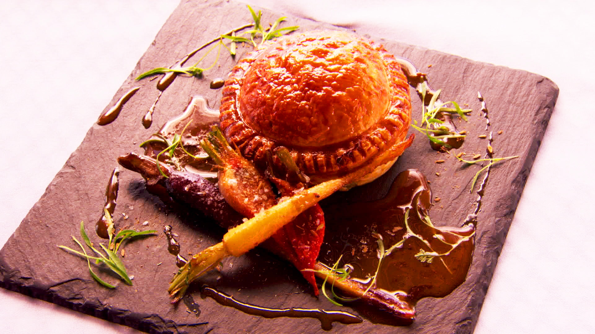 Goat Pithivier With Juniper Winter Vegetables And Toasted Spice Recipe Sbs Food