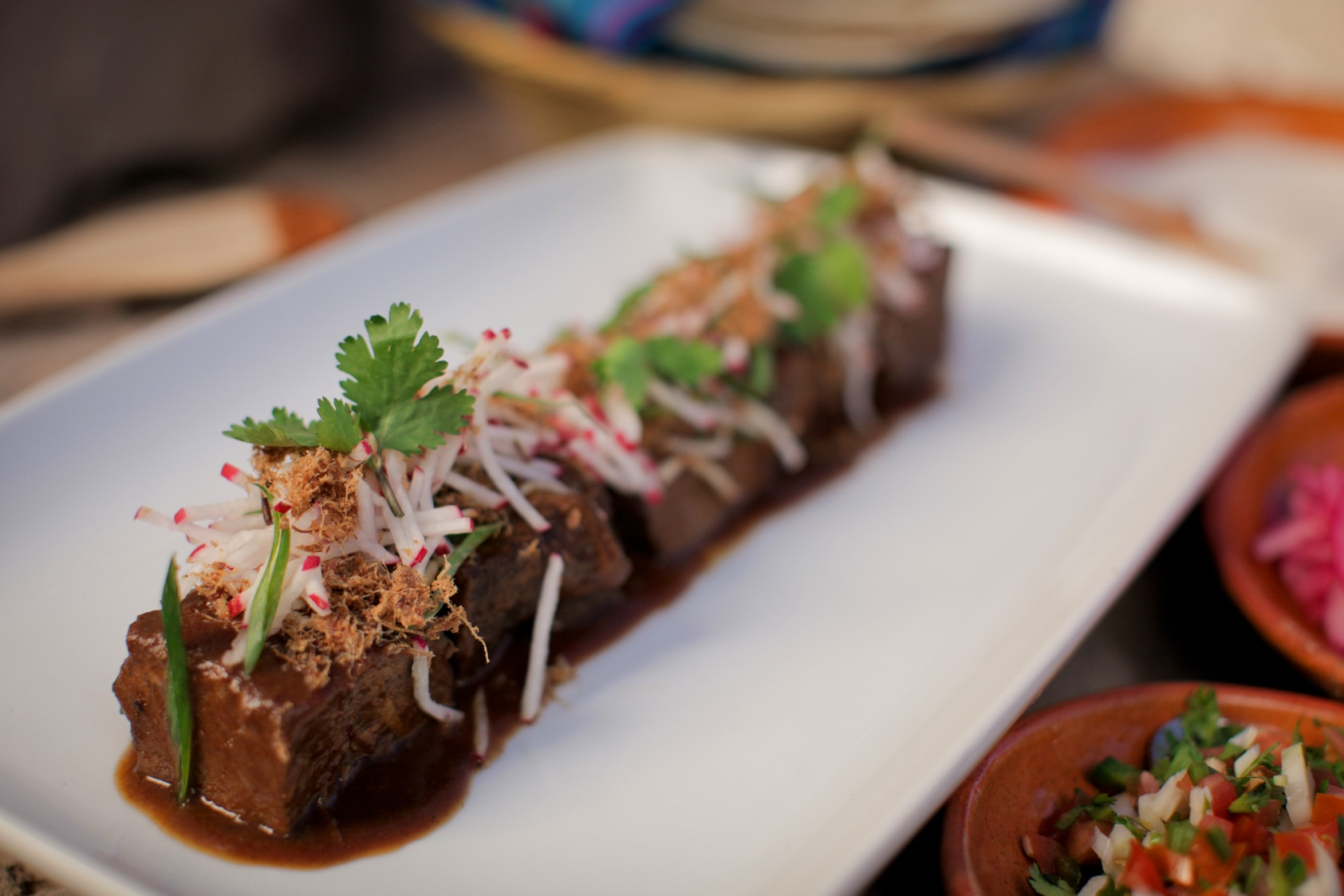 Braised beef short ribs with pico de gallo (costilla de ...