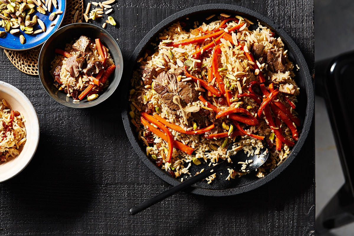 Lamb Pilaf Rice Recipes Afghan Food Sbs