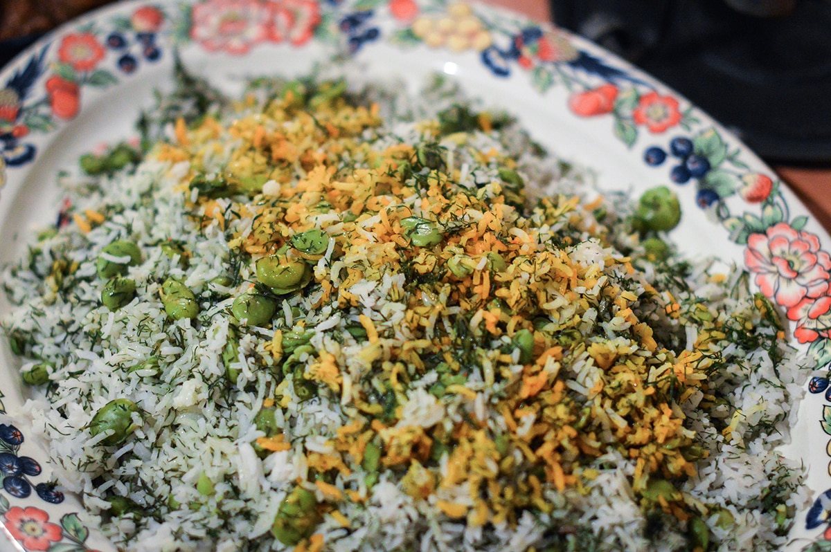 Iranian Rice With Broad Beans And Dill Rice Recipes