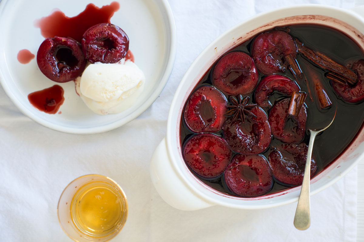 Five-Spiced Plum And Red Wine Sorbet Recipe — Dishmaps