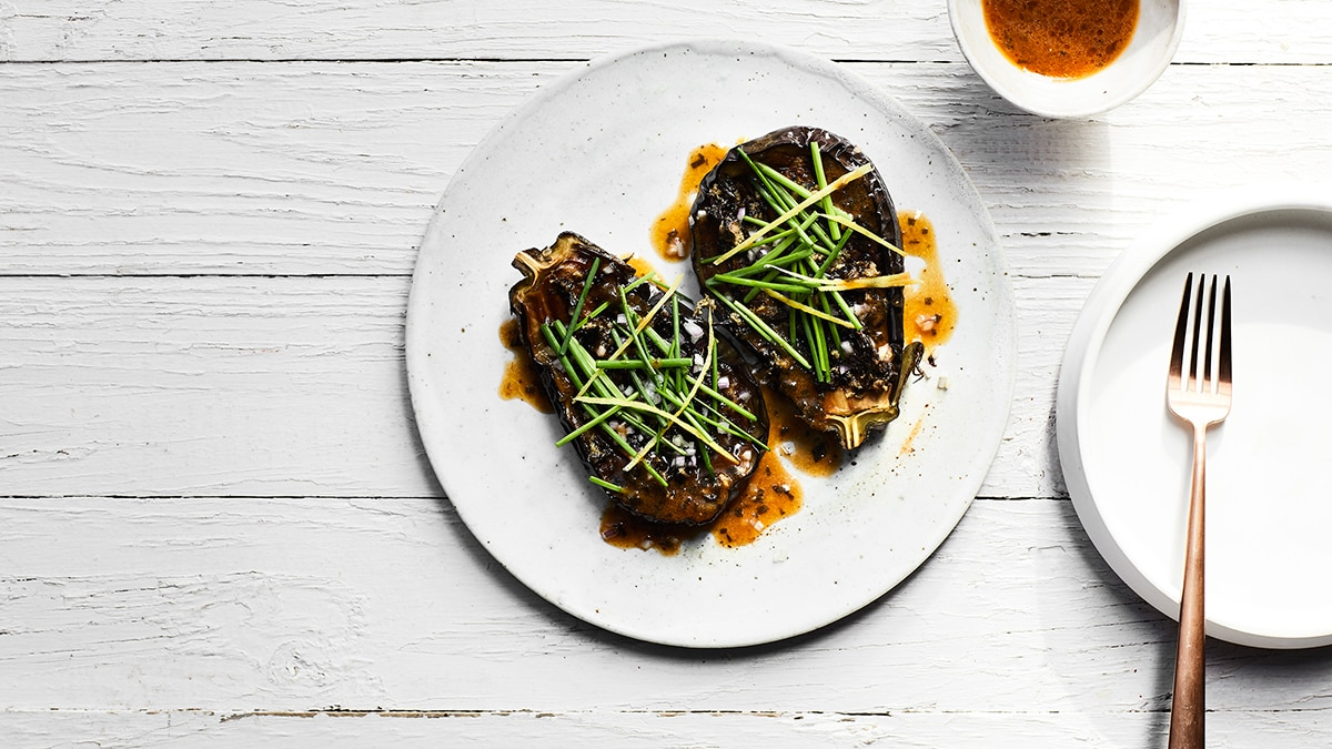 Braised eggplant with saltbush vegetarian recipes sbs food of the most gifted chefs working in australia and has always loved vegetables and the httpssbsfoodrecipesbraised eggplant saltbush forumfinder Gallery