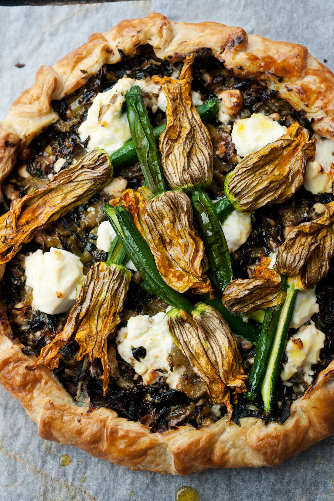Corsican pie with zucchini flowers recipe : SBS Food