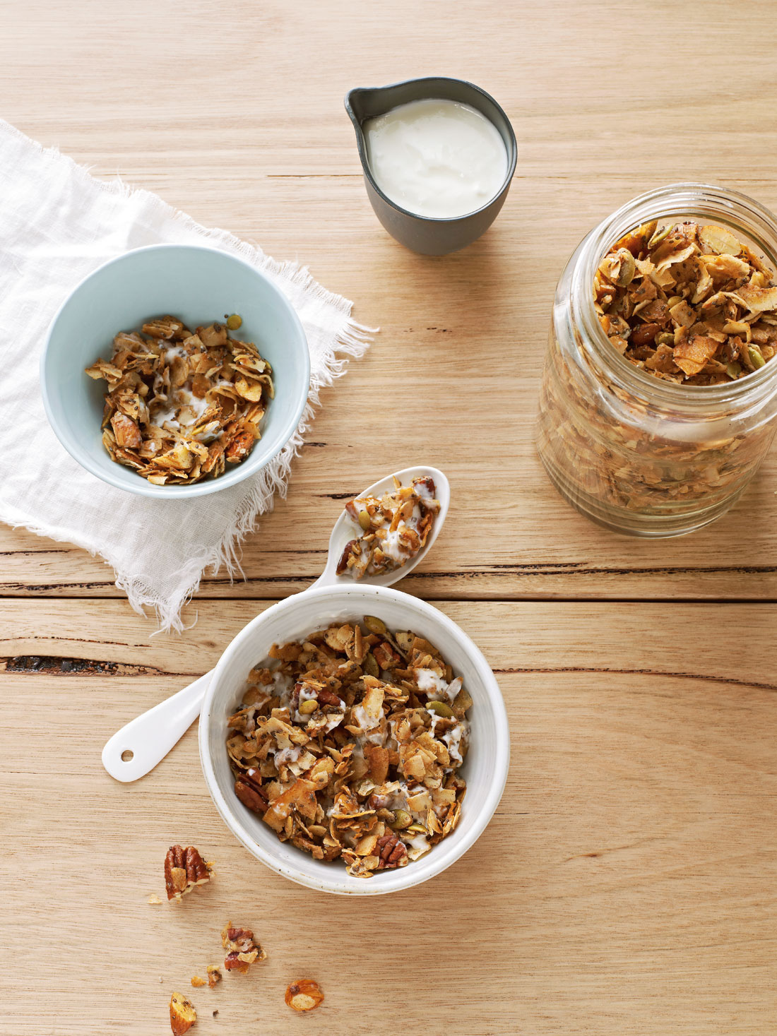 Coco nutty granola recipe sbs food share image forumfinder Choice Image