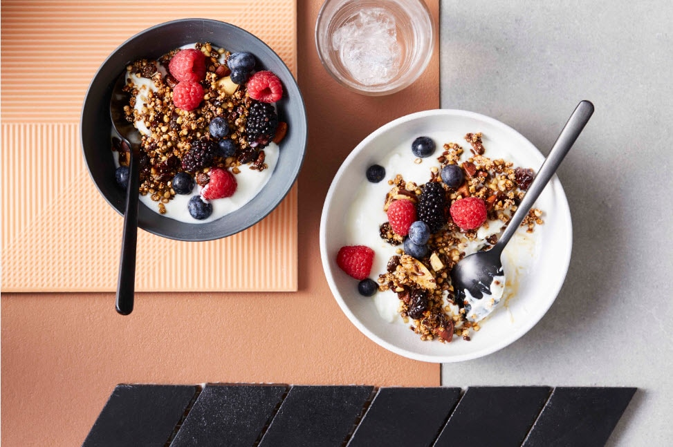 Harmony granola recipe breakfast wholegrain recipes sbs food harmony granola named for its inclusive list of diverse ingredients linseeds goji berries b httpssbsfoodrecipesharmony granola forumfinder Choice Image