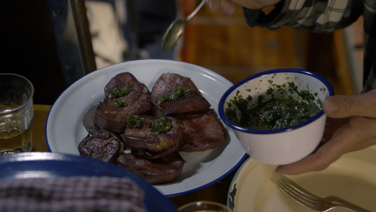 Beef Tongue With Salsa Verde Offal Recipes Sbs Food