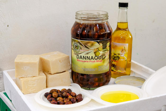 The family behind Macquarie Fruit Shop harvests its own olives.
