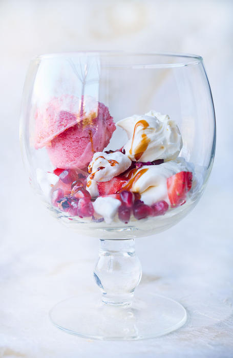 Strawberry and rose mess