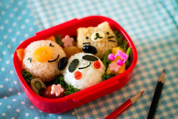 Character bentos are made by parents to please their schoolkids.