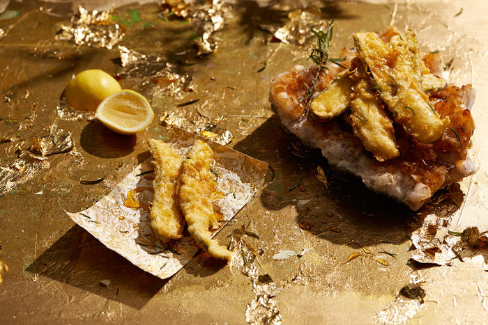 Eggplant fritti with spiced honey and rosemary