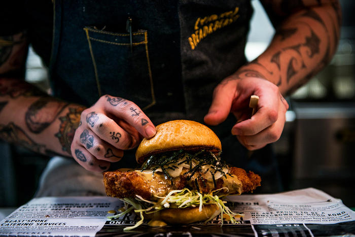 """The """"Kentucky San"""" from Bread & Beast is nspired by a traditional Hong Kong sandwich."""