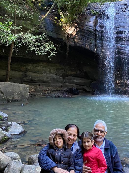 Cancer-free Zahra Mohammad enjoying a day out with her family.