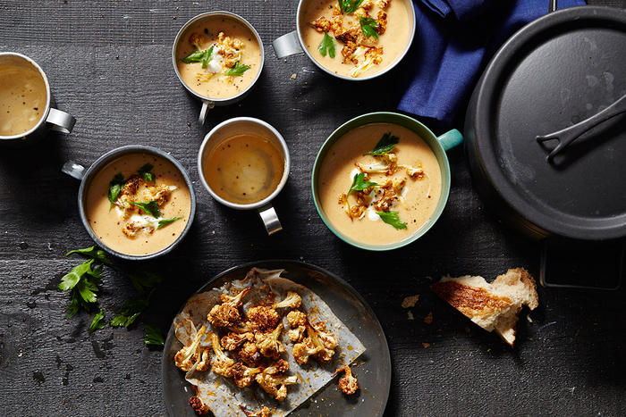 Middle Eastern-spiced cauliflower soup