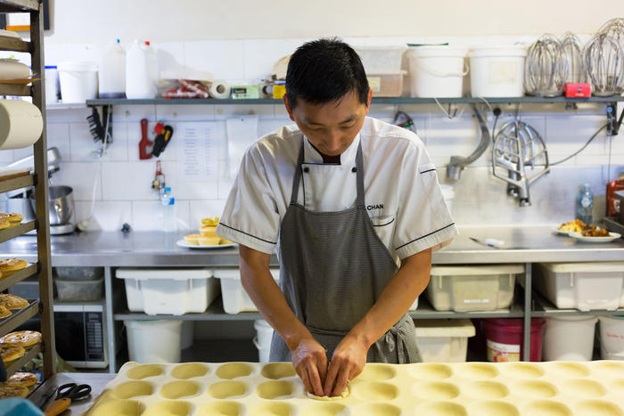 """""""Every night when I sleep, I dream of making pies for the competition,"""" says Chan Khun."""