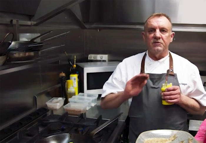 Steve Hodges cooking with ghee