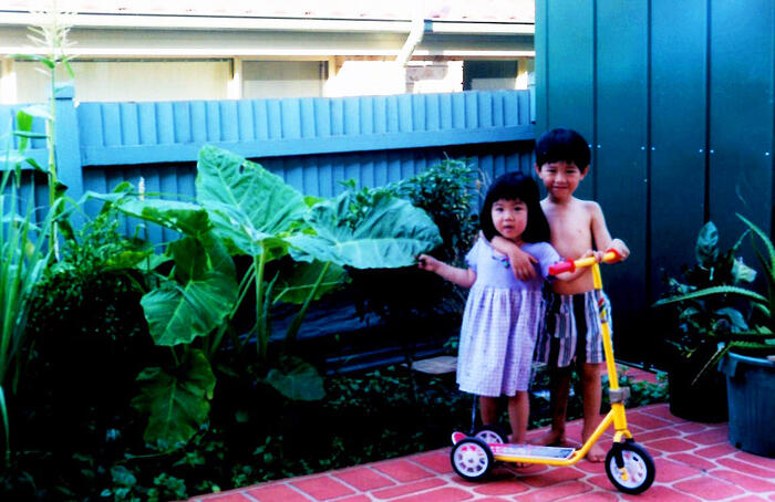 Katrina Trinh with one of her brothers.