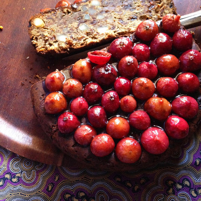 Fruitcake made with native ingredients, such as quandong and wattleseed, by Rayleen Brown from Kungkas Can Cook in Alice Springs