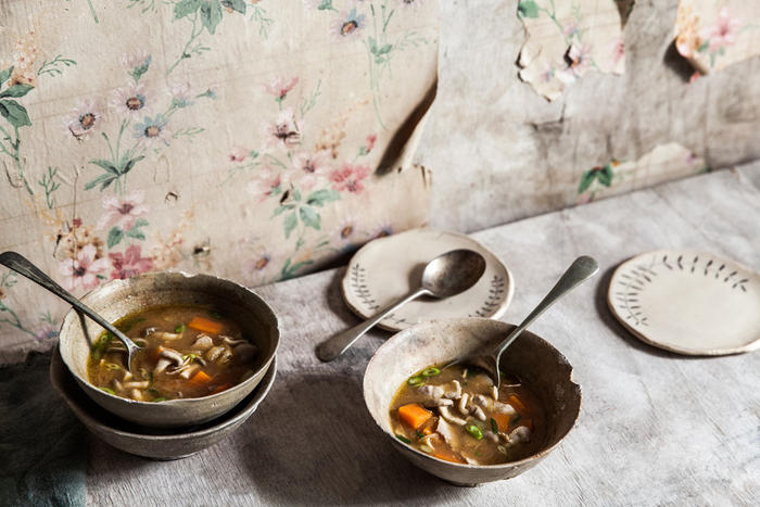 Pork, sweet potato and miso soup (tonjiru)