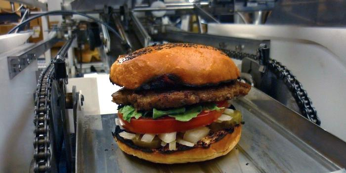 A burger made with Momentum Machines technology