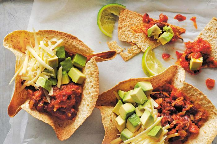 Nacho bowls (featuring kidney beans) could help with your iron and zinc intake.