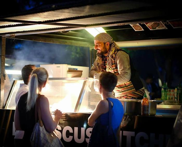 Nadeem Turkia in his Syrian food truck Flavours of Damascus