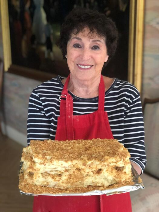 Nechama loves cooking all sorts of cakes, like this Napolean cake.