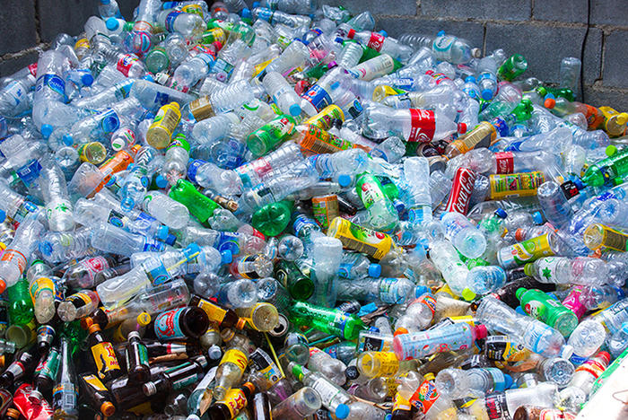 Plastic bottle waste is a huge issue around the world
