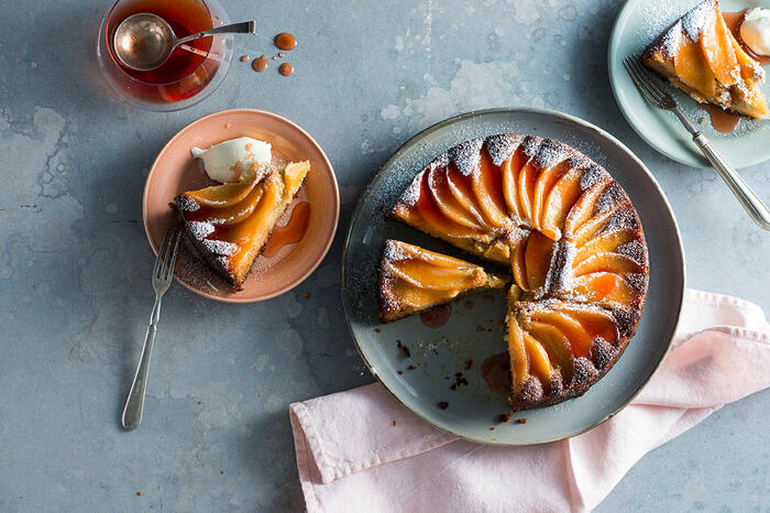 Quince and lemon myrtle syrup cake