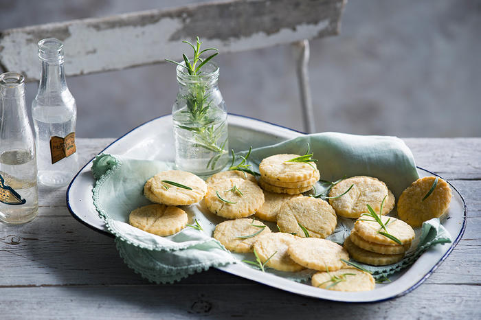 Rosemary and lemon sables