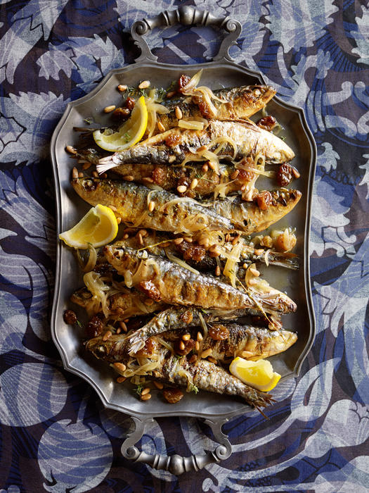 Sweet and sour sardines