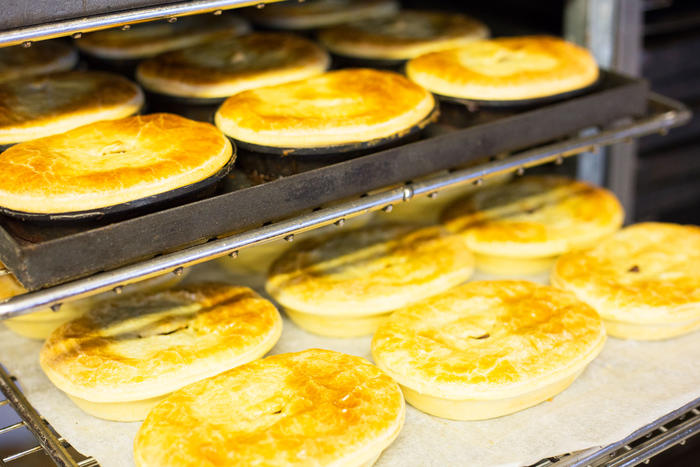 Straight from the oven: Thai curry pies.