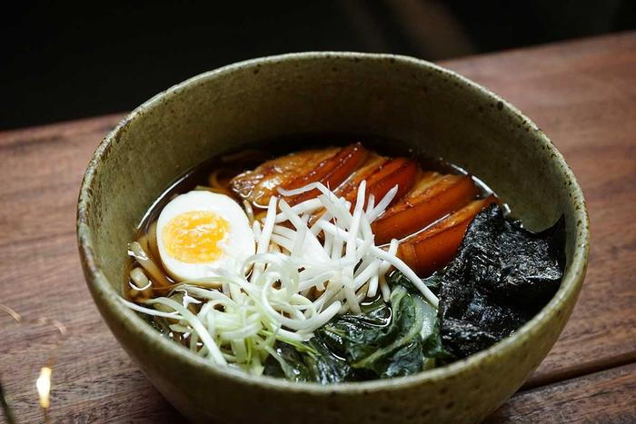 Pork belly udon soup