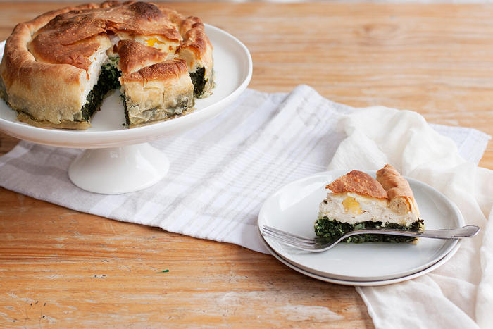 Silverbeet and ricotta Easter pie (Torta pasqualina)