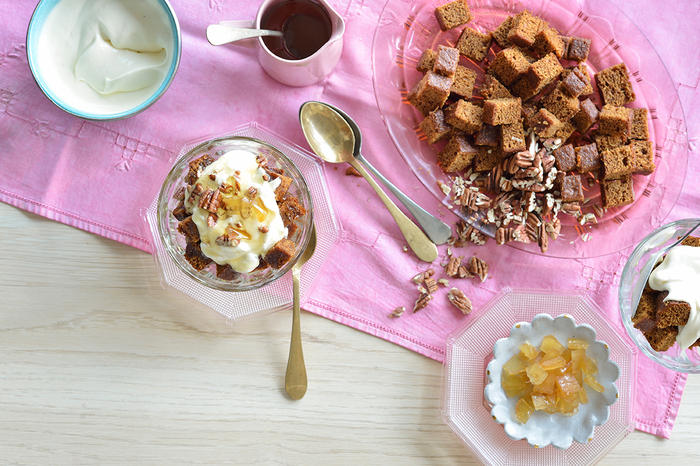 Triple ginger trifle
