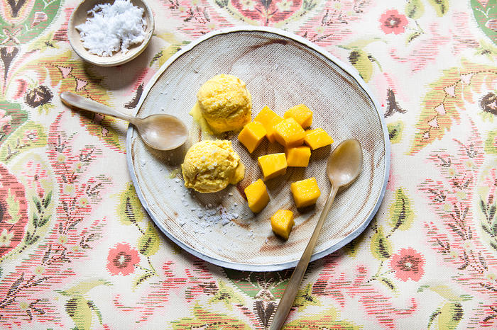 Turmeric and coconut ice cream