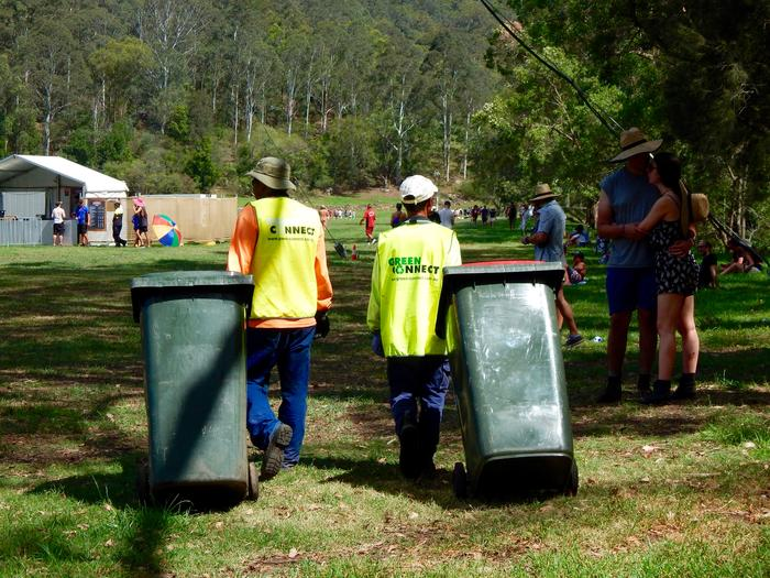 Green Connect staff take charge of the waste services at a festival.