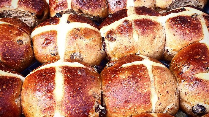 Australian Native Hot Cross Buns by Rebecca Sullivan