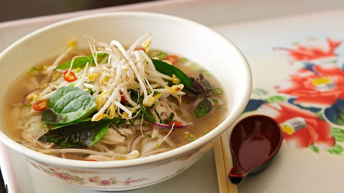 A supplied photo of Pho Ga - Chicken Rice Noodle Soup - from Little Vietnam by Nhut Huynh. (AAP Image/Lantern)
