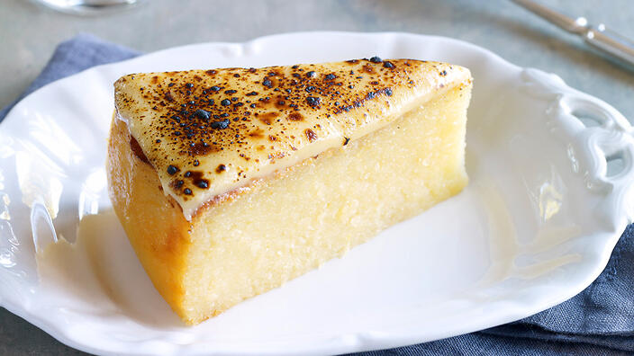 """Cassava cake from Yasmin Newman's cookbook (her mother was known as the """"Cassava Queen"""")."""