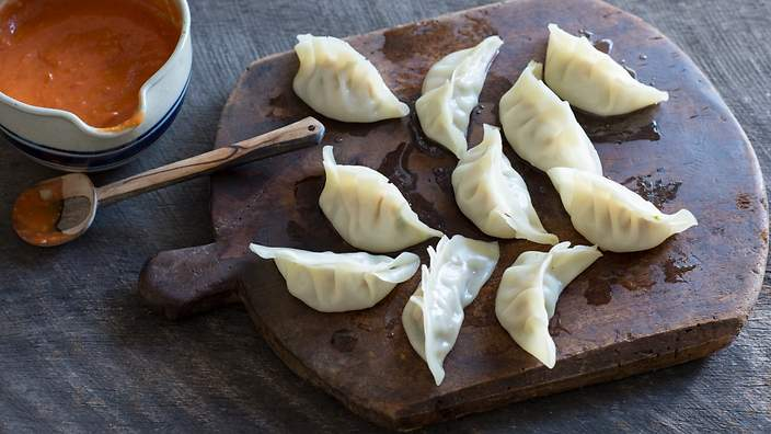 Nepali chicken dumplings momo recipe sbs food nepali chicken dumplings momo forumfinder Gallery