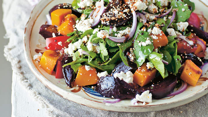Beetroot and feta salad recipe : SBS Food