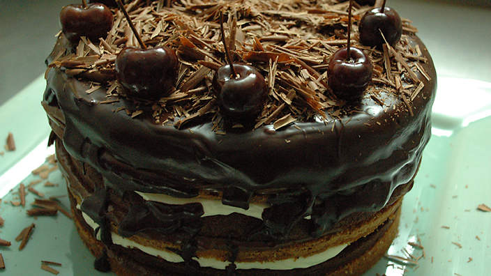 Black Forest Chocolate Mousse Cake Recipe