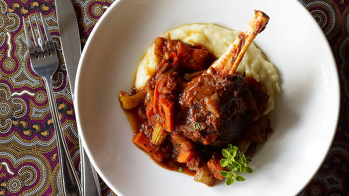 Braised wallaby shanks recipe sbs food for Australian food cuisine