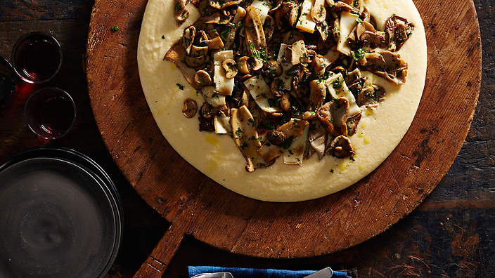 Mushroom ragù with soft polenta and taleggio recipe : SBS Food