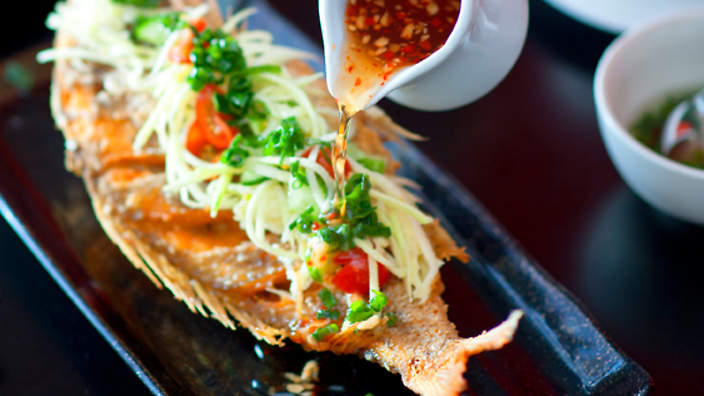 Deep Fried Whole Snapper With Ginger And Lime Fish Sauce Ca Chien Recipe SBS Food